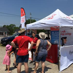 Photo of the Hydro One community events tent
