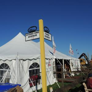 Image of the Hydro One tent at The International Plowing Match