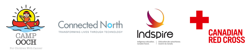 sponsor logos: Camp Ooch, Connected North, Indspire and Canadian Red Cross