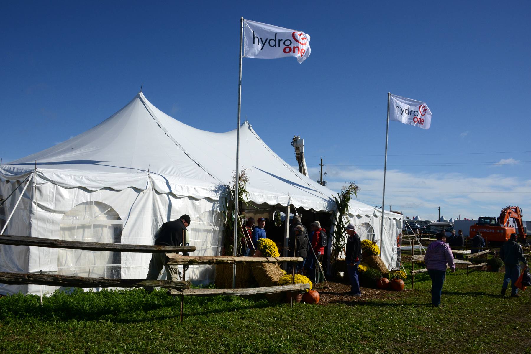 Image of Hydro One Tent at Plowing Event