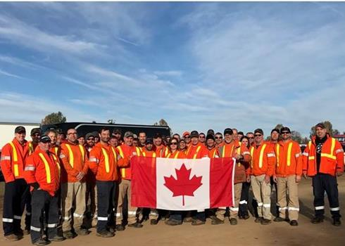 Image of Hydro One travelling forestry crew