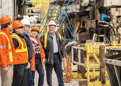 photo of Hydro One visiting an industrial business