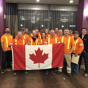 Image of the Hydro One forestry crew heading to California