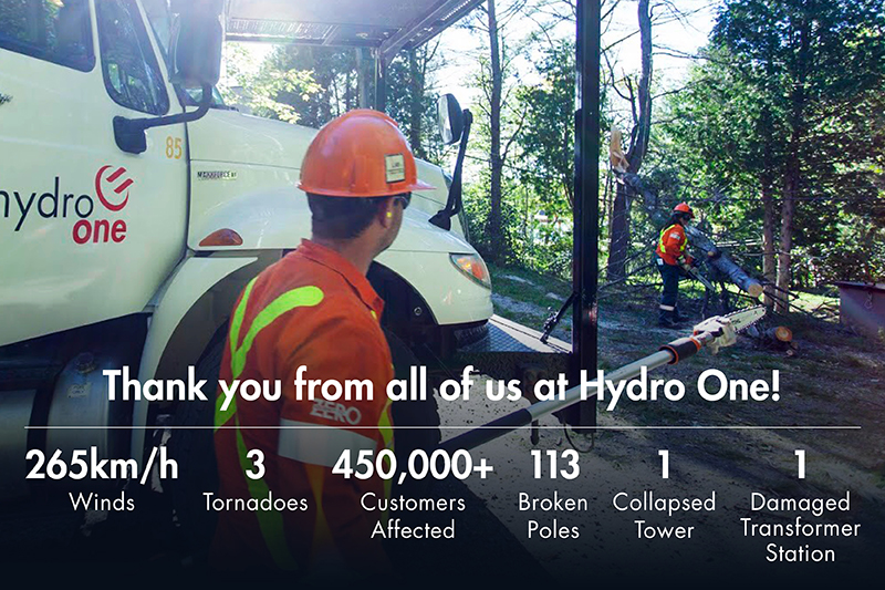 Thank you from all of us at Hydro One