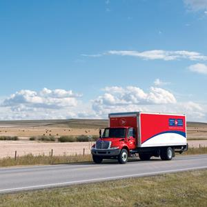 Photo of a mail delivery truck