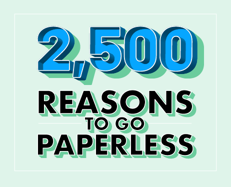 2,500 Reasons to Go Paperless contest