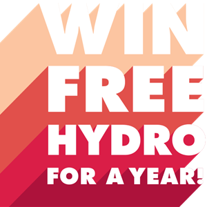 Illustration: Win Free Hydro For a Year!