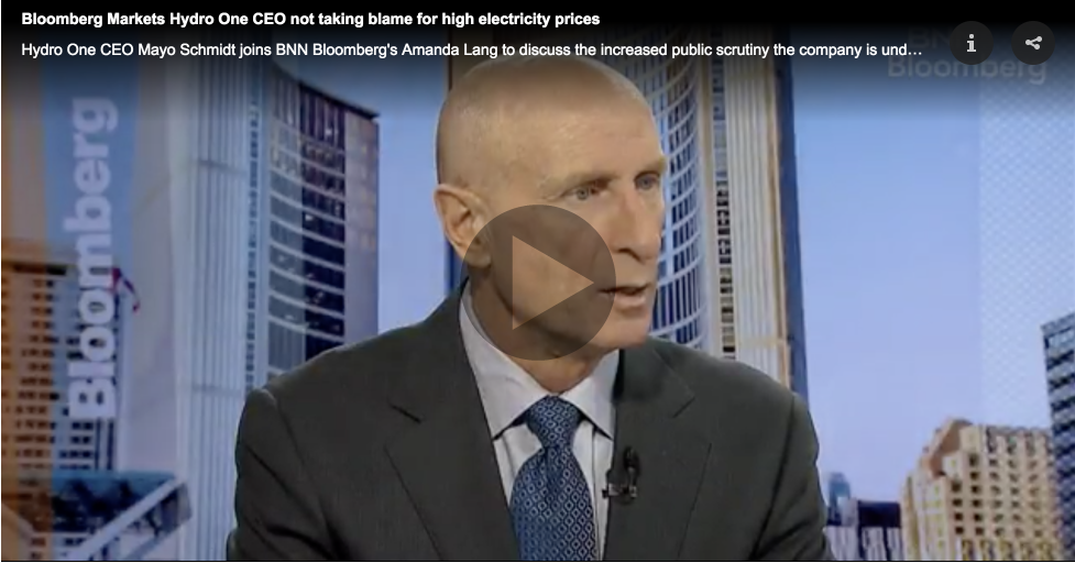 Hydro One CEO Mayo Schmidt
