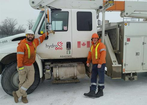 Image of Hydro One Line Technicians