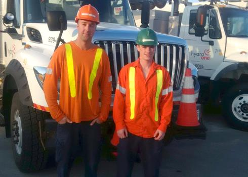 Image of Mike and George from Hydro One