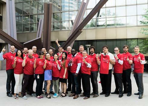 photo of a Hydro One Ride for Heart team