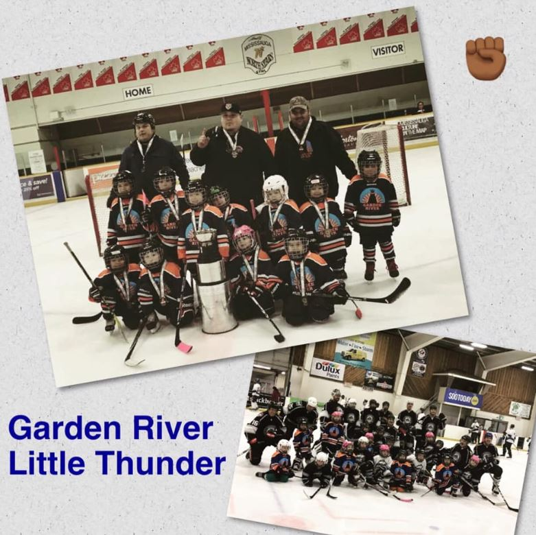 Photo of Garden River Little Thunder hockey team