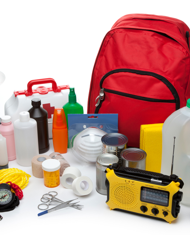 photo of an emergency preparedness kit
