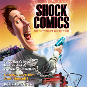 image of the cover of the Hazard Harry Shock Comic