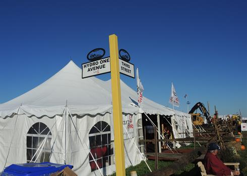 photo of Hydro One's tent at the IPM