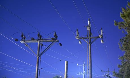 photo of distribution poles and lines