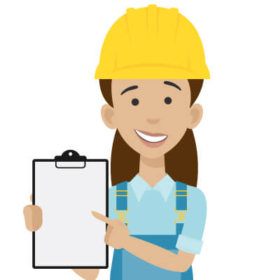 illustration of a woman holding a checklist