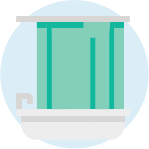 Bathtub shower icon